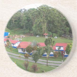 Ferienrückzug in Costa Rica Sandstein Untersetzer