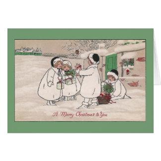Ferkel für Weihnachten Karte