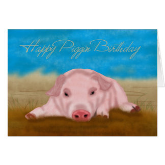Ferkel-Geburtstags-Gruß-Karte - Piggin Geburtstag Karte