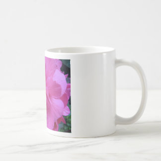 Fermez-vous de la fleur rose mug blanc