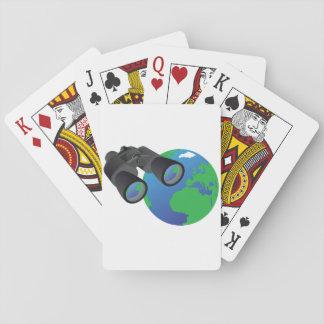 Ferngläser und Erdspielkarten Spielkarten