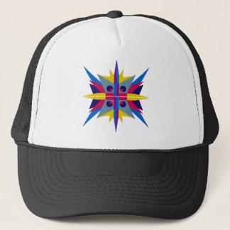 Fernlastfahrer-Hut mit Kunst-Deko-Stern Truckerkappe