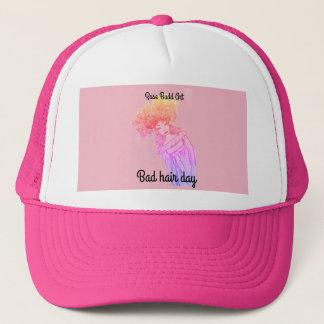 Fernlastfahrerhut, Rosa, schlechter Tag Kappe