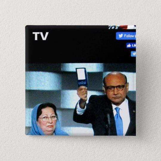 Fernsehknopf-Nr. 11 Quadratischer Button 5,1 Cm