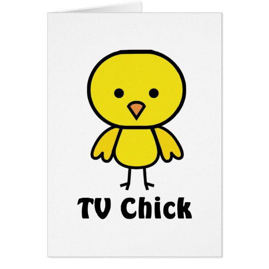 Fernsehküken Grußkarte
