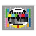 Fernsehtestschirm Postkarten