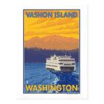 Ferry et montagnes - île de Vashon, Cartes Postales