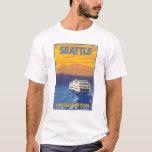 Ferry et montagnes - Seattle, Washington T-shirt
