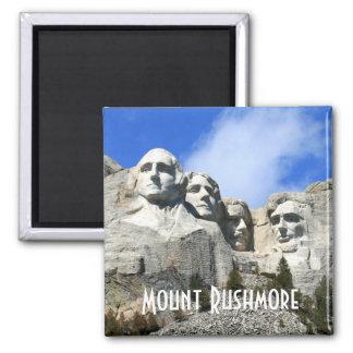Fertigen Sie der Mount Rushmore nationales Quadratischer Magnet