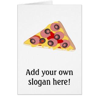 Fertigen Sie diese Pizza-Scheibegraphik besonders Karte