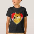 Fertigen Sie Doge Meme Liebe-Herz besonders an T-Shirt