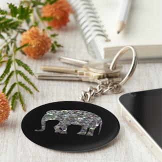 Fertigen Sie funkelnd bunten silbernen Mosaik Schlüsselanhänger