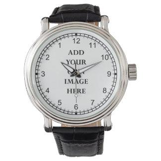 fertigen Sie Ihr verrücktes aufpassen rückwärts Armbanduhr