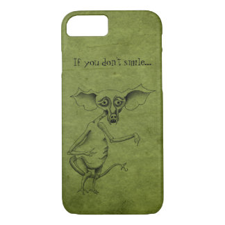 Fertigen Sie Ihren Kobold auf Grungy Grün iPhone 7 Hülle
