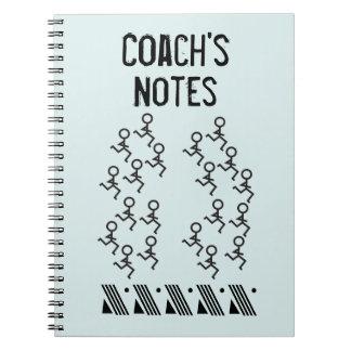 Fertigen Sie - laufenden Trainer besonders an Spiral Notizbuch