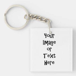 Fertigen Sie mit personalisierten Bildern und Text Schlüsselanhänger