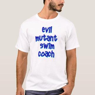 Fertigen Sie - schlechten Mutantswim-Trainer-T - T-Shirt