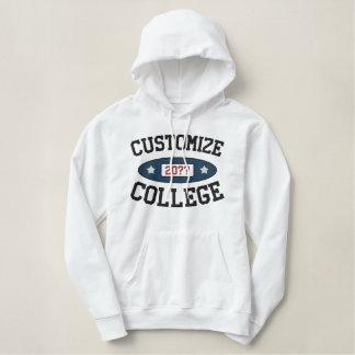 Fertigen Sie Uni-Abschlussjahr besonders an Bestickter Hoodie