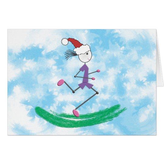 FERTIGEN Sie - Weihnachtsfeiertags-Dame Runner Karte