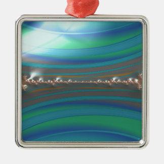 fescheres Efeu-Fraktal Silbernes Ornament