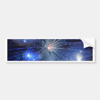 Festival-Blaumode der Feuerwerke helle Autoaufkleber