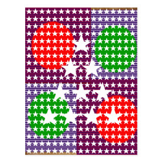 Festival-Dekorationen: Stern-Mond-Schein Postkarte
