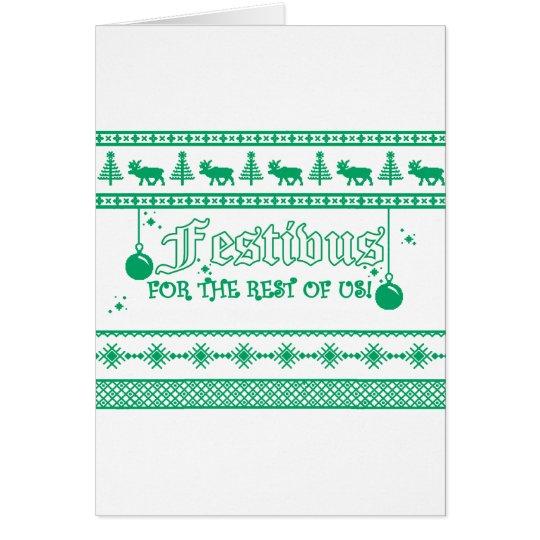 FESTIVUS Weihnachten Grußkarte