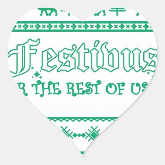FESTIVUS Weihnachten Herz-Aufkleber