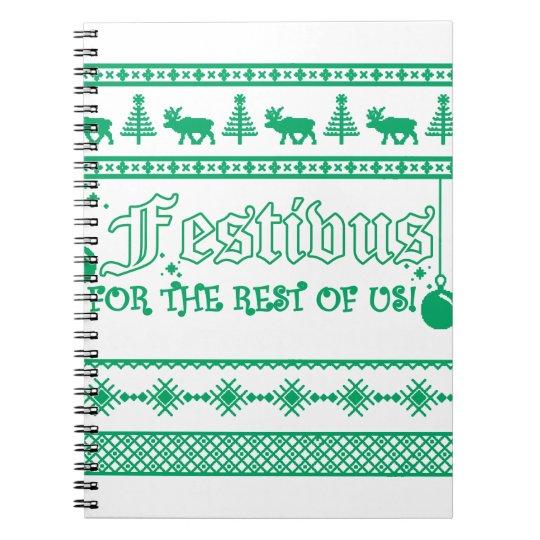 FESTIVUS Weihnachten Notizblock