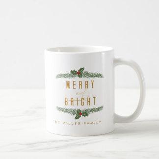 Festlich, Kiefer und Beeren Kaffeetasse