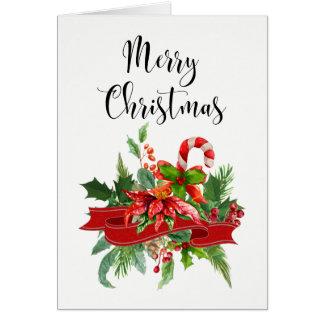 Festliche frohe Weihnacht-Kalligraphie und Karte