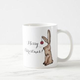 Festliche Häschen-frohe Weihnacht-Tasse Kaffeetasse