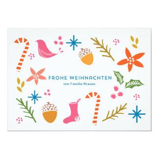 Festliche kritzelt frohe Weihnachten Karten 12,7 X 17,8 Cm Einladungskarte