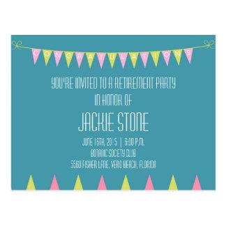 Festliche Ruhestands-Party Einladungs-Postkarten Postkarte