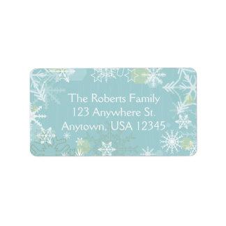 Festliche Schneeflocken Adressetikett