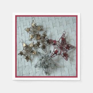 Festliche Sterne Papierserviette