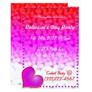 Festliche Valentinstag-Einladung Karte