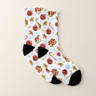 Festliche Weihnachtsdekorationen Socken