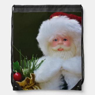 Festliche Weihnachtsmann-Verzierung Turnbeutel