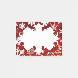 Festliche Weihnachtsschneeflocken Post-it Klebezettel