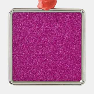 Festlicher Chic-Rosa-Glitter-Hintergrund Silbernes Ornament