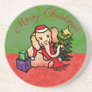 Festlicher frohe Weihnacht-niedlicher Getränkeuntersetzer