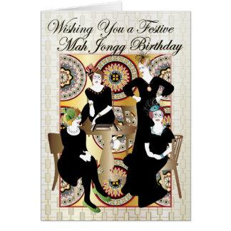 Festlicher Geburtstag Milliamperestunde Jongg Karte