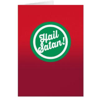 Festlicher Hagel Satan Karte