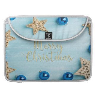 Festlicher Stern-Flitter-frohe Weihnacht-Glitter Sleeve Für MacBook Pro