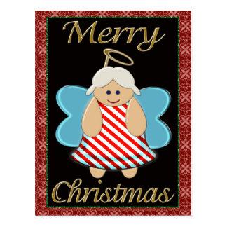 Festlicher Weihnachtsengel Postkarte