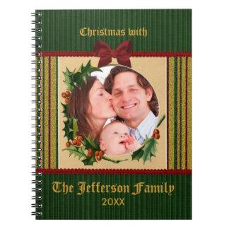 Festlicher Weihnachtsrahmen-rotes Notizblock