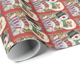 Festliches mit Ziegeln gedeckte Verpackung des Geschenkpapier