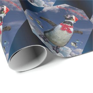 Festliches Pinguin-Packpapier - Weihnachten Geschenkpapier