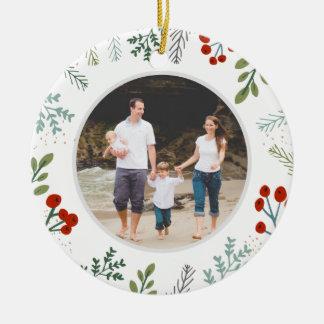 Festliches Rahmen-Feiertags-Andenken Keramik Ornament